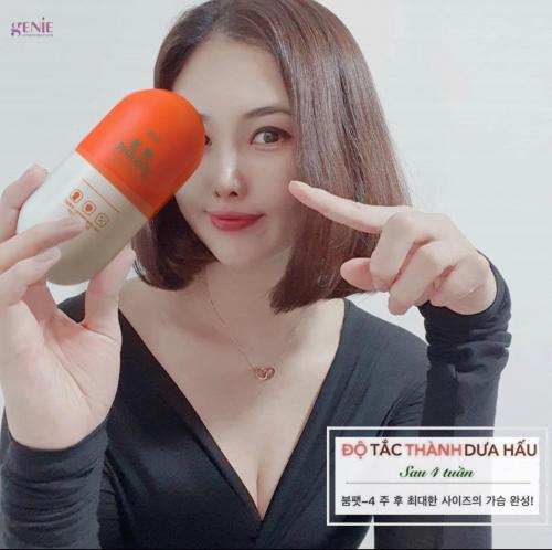 Viên uống nở ngực Genie Boom Fat Yline Plus 60 viên Hàn Quốc