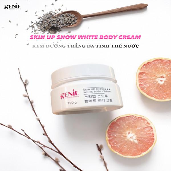 Siêu phẩm TRẮNG DA GENIE SKIN UP SNOW WHITE BODY CREAM, trắng hồng mướt mịn sau 3 ngày