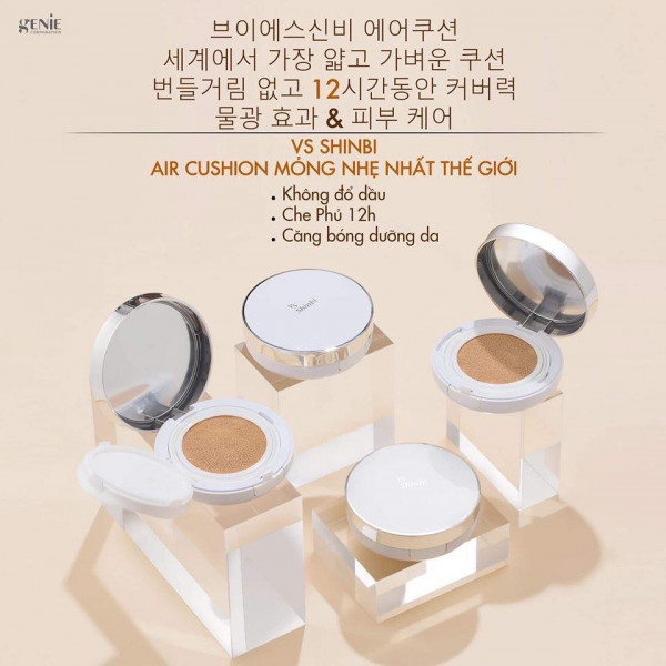 Phấn nước AIR CUSHION Vs Shinbi SPF50PA+++