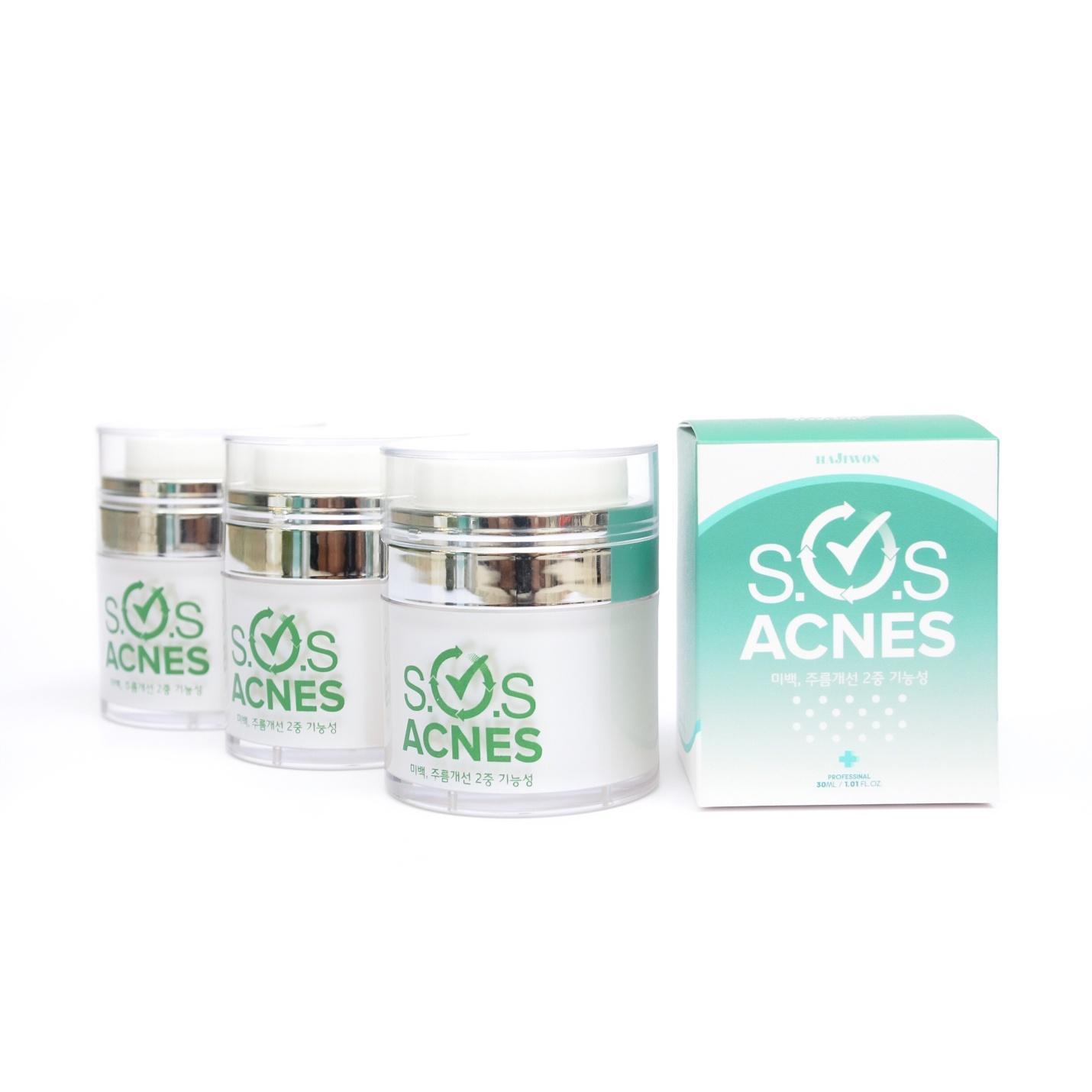 Kem trị mụn S.O.S ACNES SOS Acnes tác dụng nhanh trị mụn tận gốc